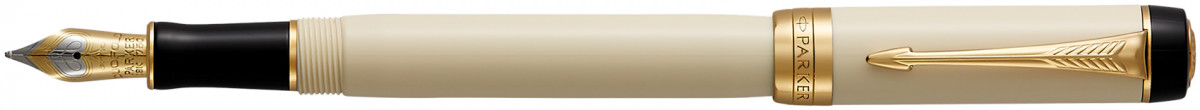 Parker Duofold Classic Fountain Pen – International Ivory & Black Gold Trim