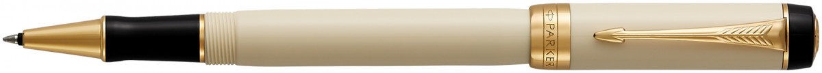 Parker Duofold Classic Rollerball Pen - Ivory & Black Gold Trim