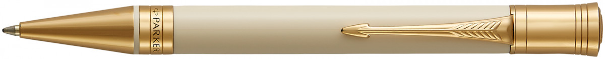 Parker Duofold Classic Ballpoint Pen - Ivory & Black Gold Trim