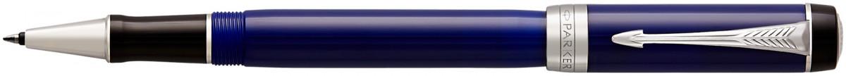 Parker Duofold Classic Rollerball Pen - Blue & Black Chrome Trim