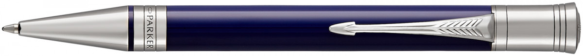 Parker Duofold Classic Ballpoint Pen - Blue & Black Chrome Trim