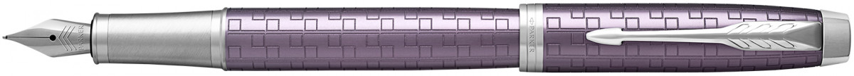 Parker IM Premium Fountain Pen - Dark Violet Chrome Trim