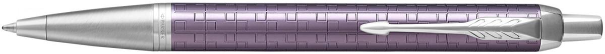 Parker IM Premium Ballpoint Pen - Dark Violet Chrome Trim