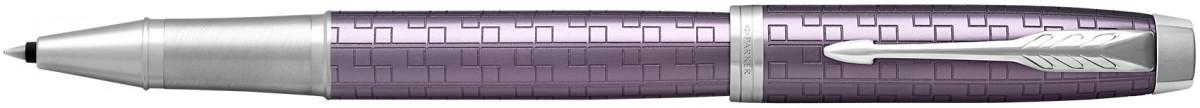 Parker IM Premium Rollerball Pen - Dark Violet Chrome Trim