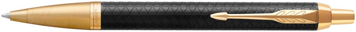 Parker IM Premium Ballpoint Pen - Black Gold Trim