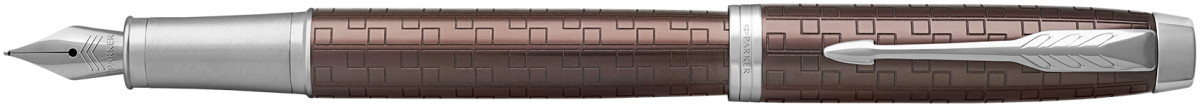 Parker IM Premium Fountain Pen - Brown Chrome Trim