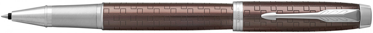 Parker IM Premium Rollerball Pen - Brown Chrome Trim