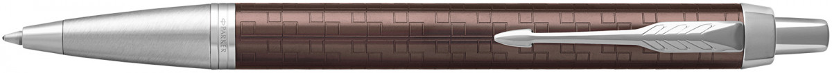 Parker IM Premium Ballpoint Pen - Brown Chrome Trim