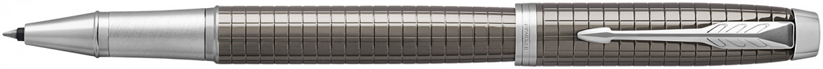 Parker IM Premium Rollerball Pen - Dark Espresso Chiseled Chrome Trim