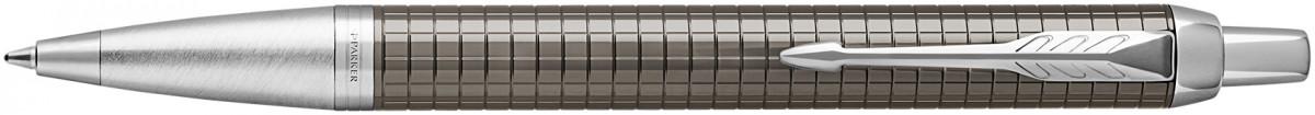 Parker IM Premium Ballpoint Pen - Dark Espresso Chiseled Chrome Trim