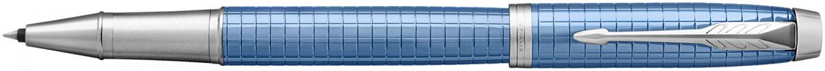 Parker IM Premium Rollerball Pen - Blue Chrome Trim