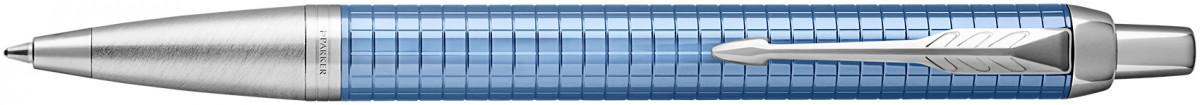 Parker IM Premium Ballpoint Pen - Blue Chrome Trim