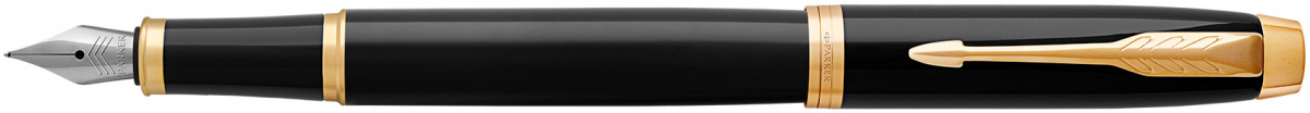 Parker IM Fountain Pen - Gloss Black Gold Trim