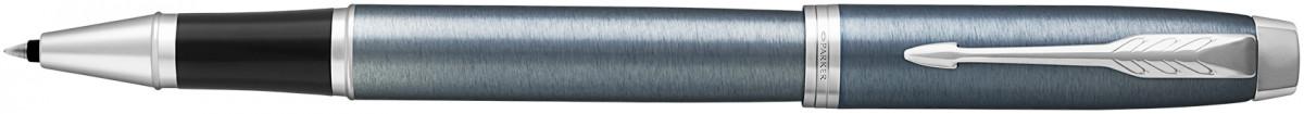 Parker IM Rollerball Pen - Light Blue Grey Chrome Trim