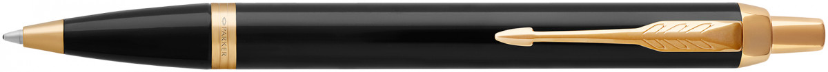 Parker IM Ballpoint Pen - Gloss Black Gold Trim