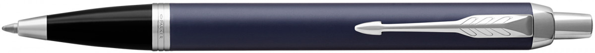 Parker IM Ballpoint Pen - Blue Lacquer Chrome Trim