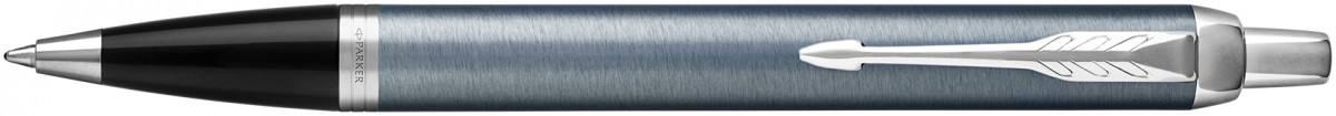 Parker IM Ballpoint Pen - Light Blue Grey Chrome Trim