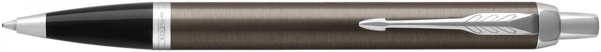 Parker IM Ballpoint Pen - Dark Espresso Chrome Trim
