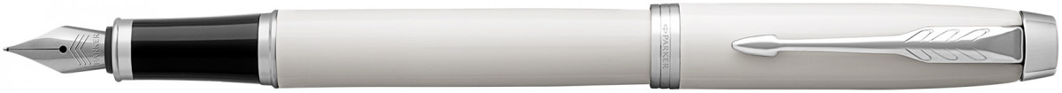 Parker IM Fountain Pen - White Chrome Trim