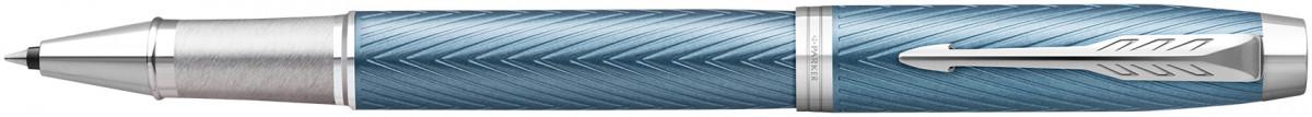 Parker IM Premium Rollerball Pen - Blue Grey Chrome Trim