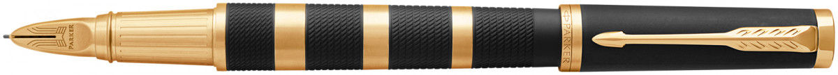 Parker Ingenuity Large - Black Rubber Gold Metal Rings
