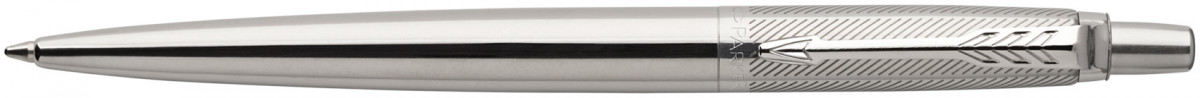 Parker Jotter Premium Ballpoint Pen - Stainless Steel Diagonal Chrome Trim