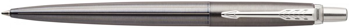 Parker Jotter Premium Ballpoint Pen - Oxford Grey Pinstripe Chrome Trim