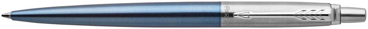 Parker Jotter Ballpoint Pen - Waterloo Blue Chrome Trim