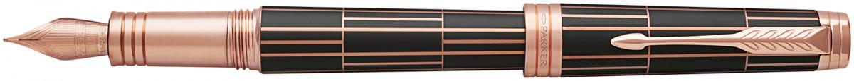 Parker Premier Fountain Pen - Luxury Brown Pink Gold Trim