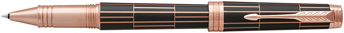Parker Premier Rollerball Pen - Luxury Brown Pink Gold Trim