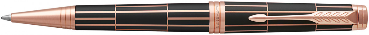 Parker Premier Ballpoint Pen - Luxury Brown Pink Gold Trim