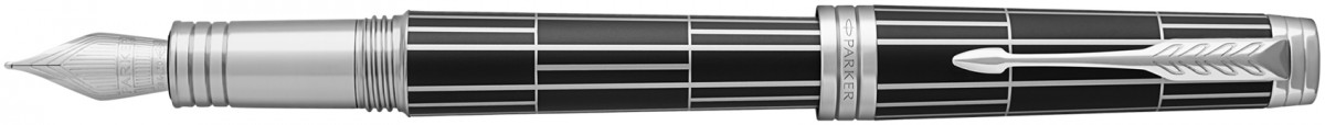 Parker Premier Fountain Pen - Luxury Black Palladium Trim
