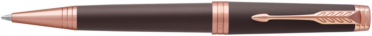 Parker Premier Ballpoint Pen - Soft Brown Pink Gold Trim