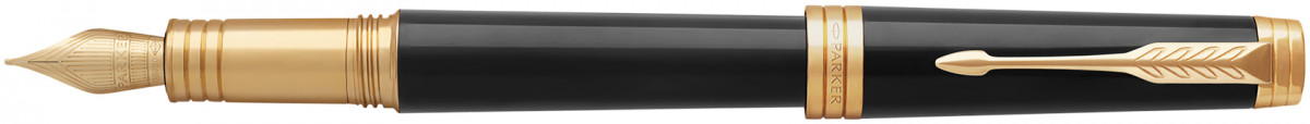 Parker Premier Fountain Pen - Black Lacquer Gold Trim
