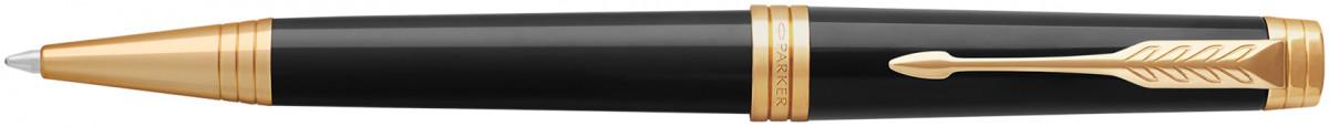 Parker Premier Ballpoint Pen - Black Lacquer Gold Trim