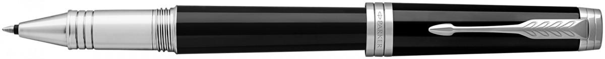 Parker Premier Rollerball Pen - Black Lacquer Chrome Trim