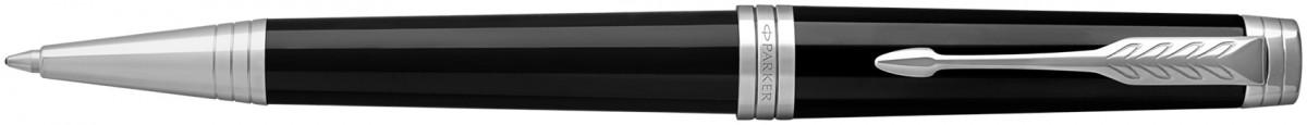 Parker Premier Ballpoint Pen - Black Lacquer Chrome Trim