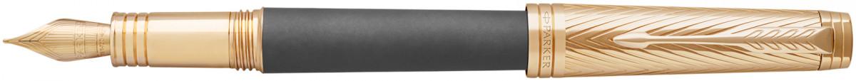 Parker Premier Fountain Pen - Storm Grey Gold Trim