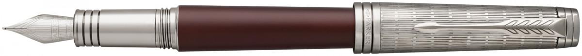 Parker Premier Fountain Pen - Crimson Red Ruthenium Trim
