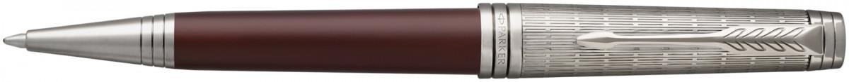 Parker Premier Ballpoint Pen - Crimson Red Ruthenium Trim