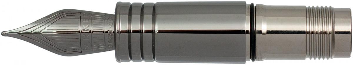 Parker Premier Ruthenium Trim Nib - Solid 18K Gold Ruthenium Plated