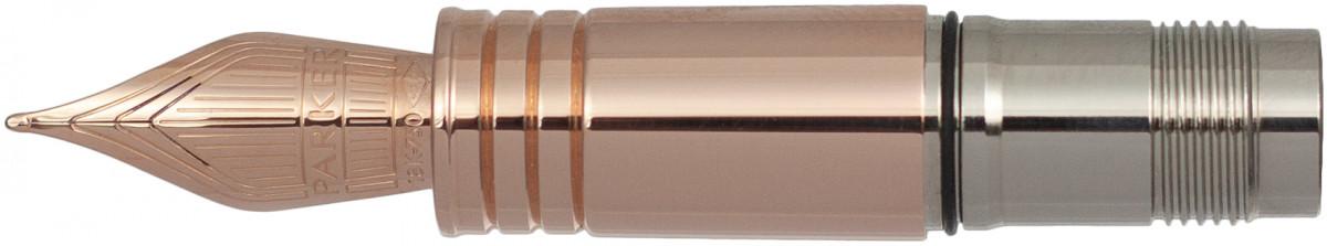 Parker Premier Pink Gold Trim Nib - Solid 18K Gold Pink Gold Coated