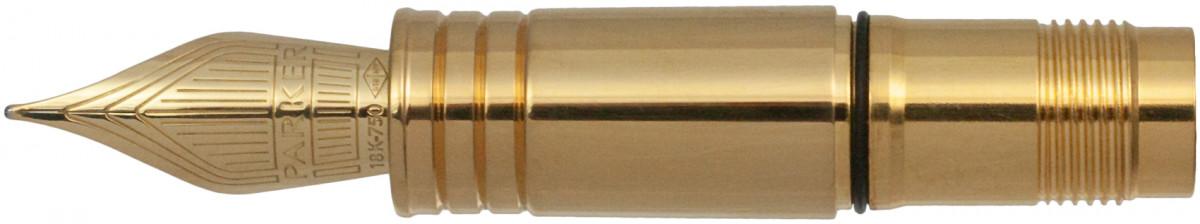 Parker Premier Light Gold Trim Nib - Solid 18K Light Gold Plated