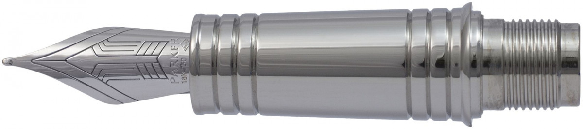 Parker Premier Pre-2017 Silver Trim Nib - Solid 18K Gold Rhodium Plated