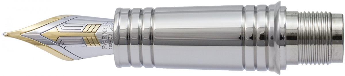 Parker Premier Pre-2017 Black Trim Nib - Solid 18K Gold Ruthenium Plated