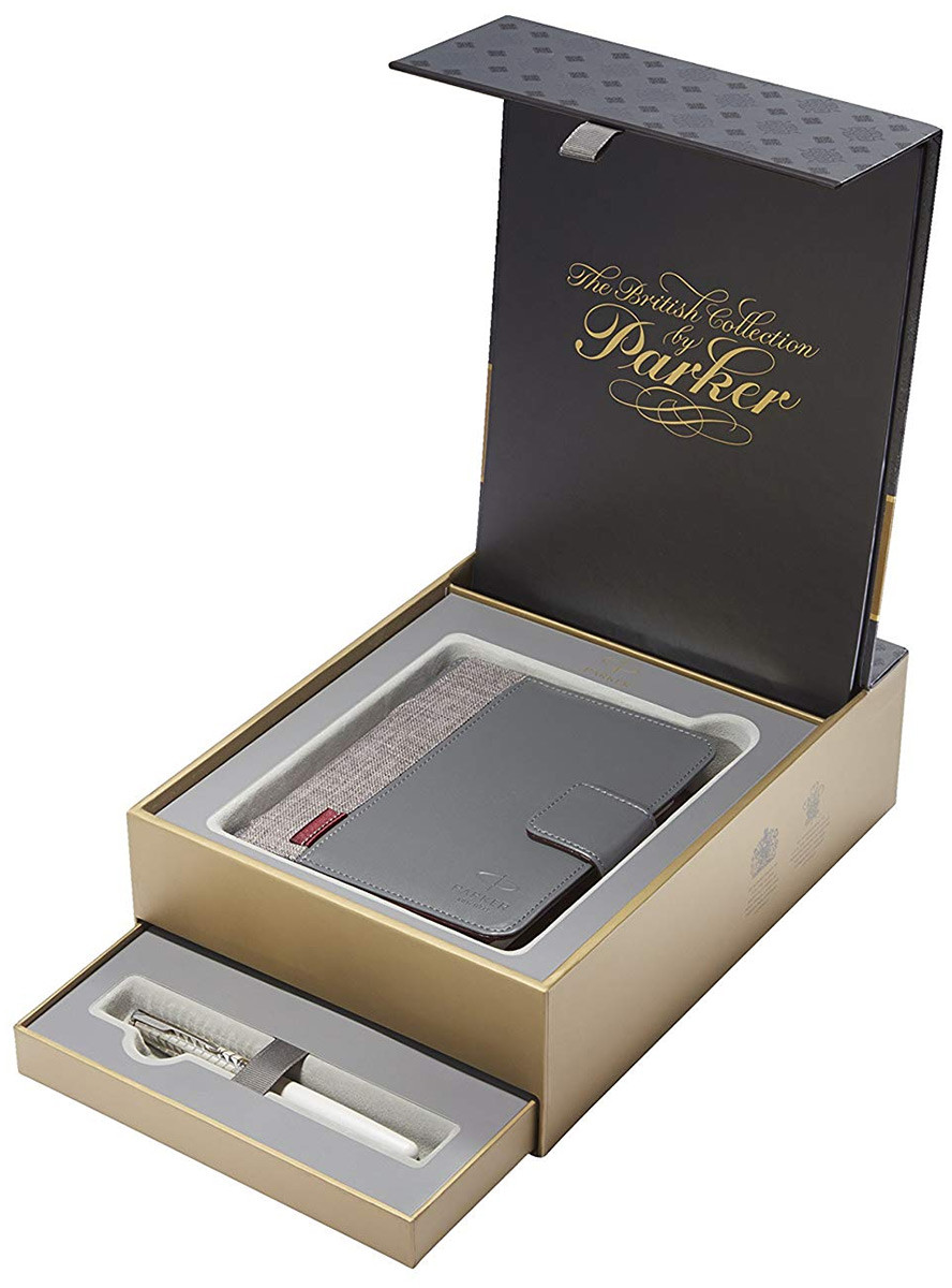 Parker Sonnet Fountain Pen - Metal & Pearl Pink Gold Trim in Special Gift Box with Free Personal Organiser