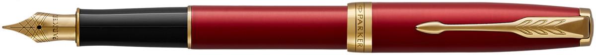 Parker Sonnet Fountain Pen - Red Satin Gold Trim