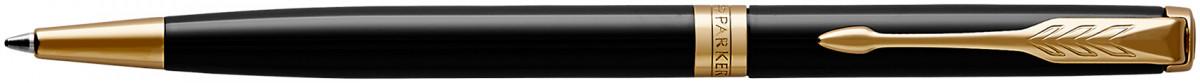 Parker Sonnet Slim Ballpoint Pen - Black Lacquer Gold Trim