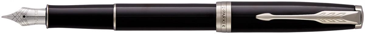 Parker Sonnet Fountain Pen - Black Lacquer Chrome Trim
