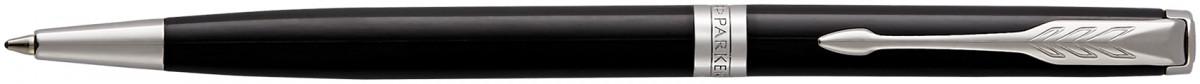 Parker Sonnet Slim Ballpoint Pen - Black Lacquer Chrome Trim